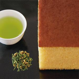 黒船詰合せ カステラ、焙じ茶、抹茶入り玄米茶