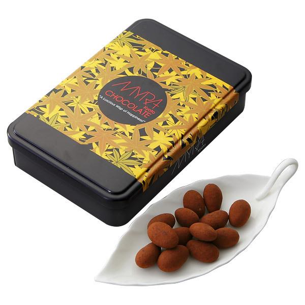 MYRA楓缶 ココア風味アーモンドチョコレート
