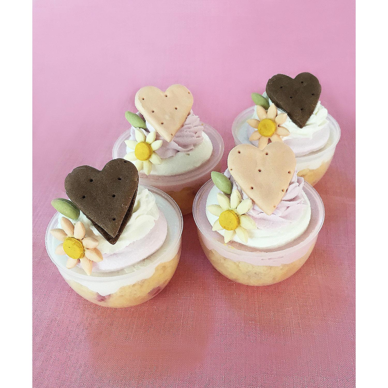 ワンちゃん用バレンタインカップケーキ Mon Tresor