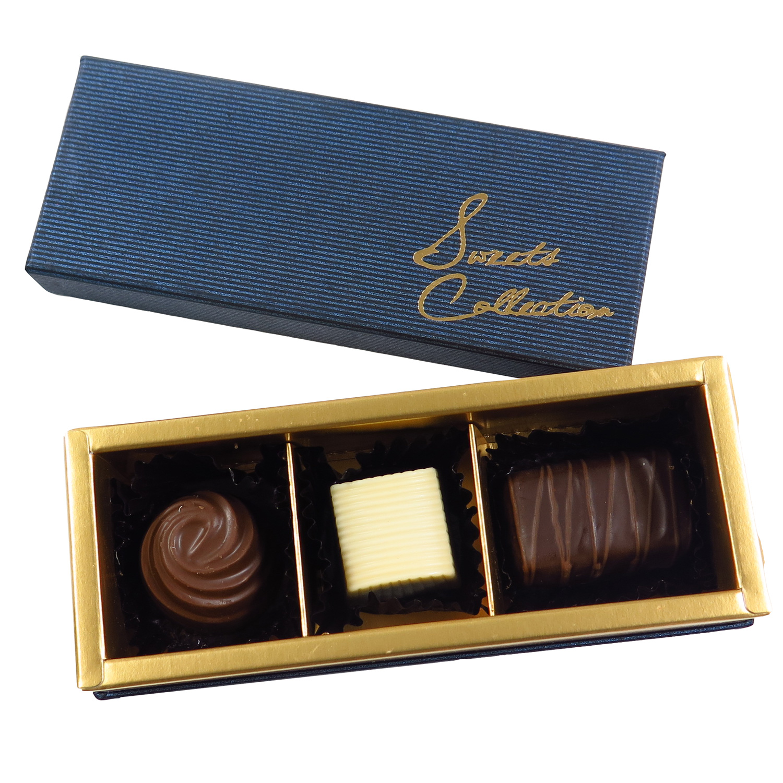 プラリネチョコレート3個
