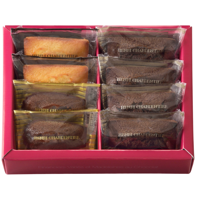 フィナンシェ2種・チョコレートマドレーヌ詰合せ 8個入