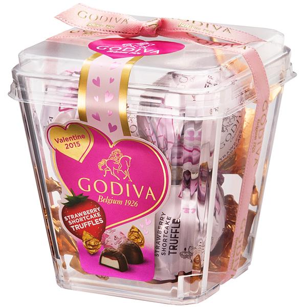 ラッピングチョコレートトリュフストロベリーショートケーキ 5粒入り