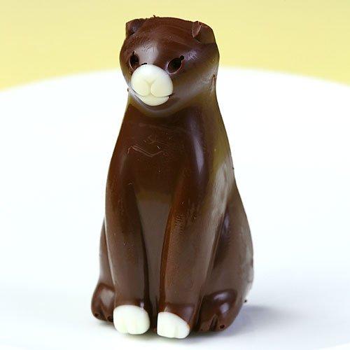 ねこ チョコレート ネコ チョコ お座り猫 正面向き 1個 単品販売