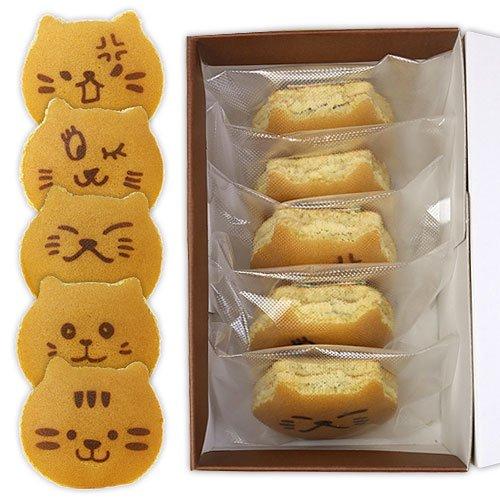 どら焼き ねこのお菓子 どらネコ 猫ドラ焼き 5個入 箱入