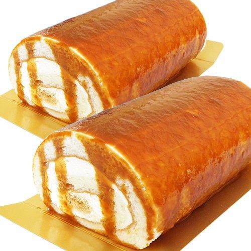 塩キャラメルロールケーキ 2本 北海道厳選材料使用
