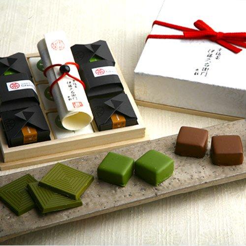 宇治抹茶チョコレートプレミアムBOX 12個化粧箱入 高級チョコレート