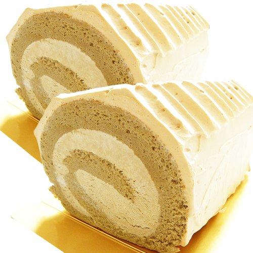 コーヒーロールケーキ 北海道珈琲ロール 2本 甘さを控えた大人のスイーツ