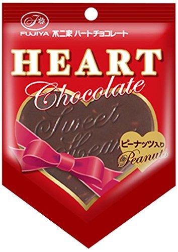 不二家 ハートチョコレート ピーナッツ 1枚×10袋