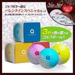 アマゾン アンバリッド ゴルフギフトセット 太陽で色が変わるゴルフボール3個&ゴルフボールチョコレート6個セット