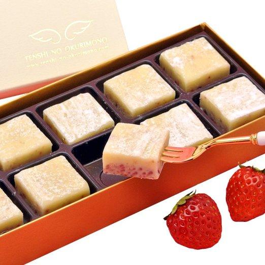 天使のおくりもの つぶつぶ苺とホワイトチョコ 天使の生チョコ 苺ミルク 10個入