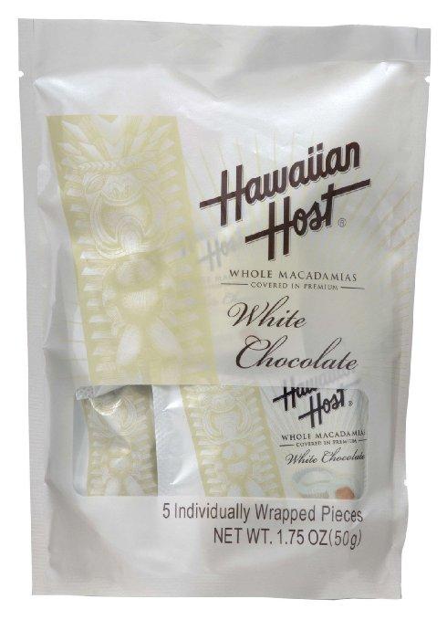 ハワイアンホースト 1粒ずつ個包装 マカデミアナッツチョコ スタンドバッグ ホワイト 5P