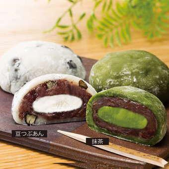 東京クリーム大福天と塩 豆つぶあん・抹茶