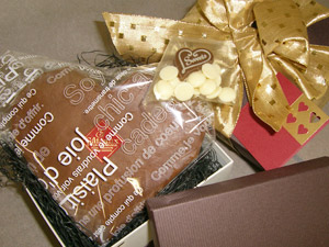 メッセージカード・オシャレで豪華なラッピング 女性に大人気ショコラ