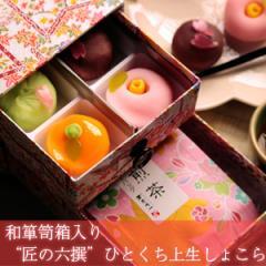 和箪笥箱入り 匠の六撰 ひとくち上生しょこら&桜煎茶